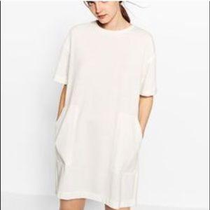 Zara NWT oversized TS dress white